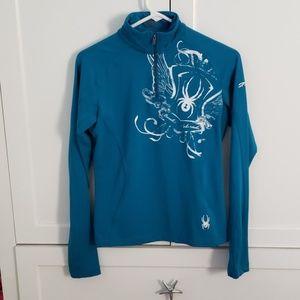 Womens Spyder Lightweight Quarter Zip sweatshirt